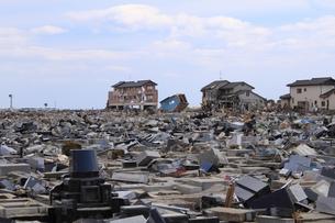 東日本大震災と津波の写真素材 [FYI00457704]