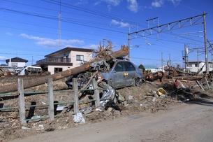 東日本大震災と津波の写真素材 [FYI00457705]