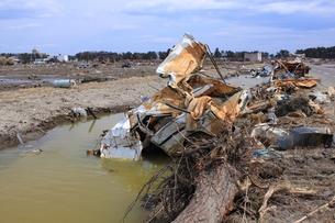 東日本大震災と津波の写真素材 [FYI00457707]