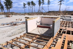 東日本大震災と津波の写真素材 [FYI00457709]