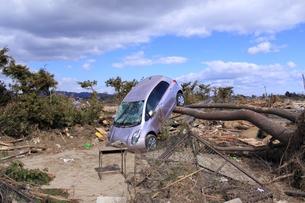 東日本大震災と津波の写真素材 [FYI00457710]
