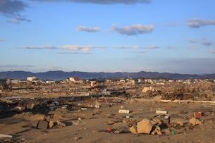 東日本大震災と津波の写真素材 [FYI00457712]