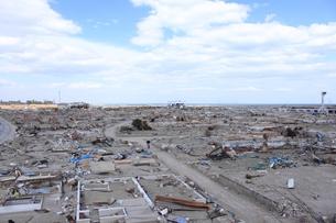 東日本大震災と津波の写真素材 [FYI00457713]