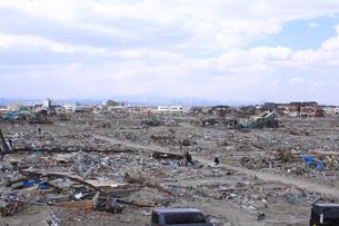 東日本大震災と津波の写真素材 [FYI00457714]