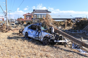 東日本大震災と津波の写真素材 [FYI00457715]