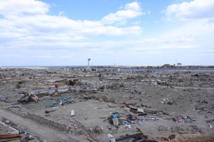 東日本大震災と津波の写真素材 [FYI00457716]
