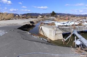 東日本大震災と津波の写真素材 [FYI00457717]
