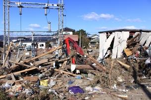 東日本大震災と津波の写真素材 [FYI00457718]