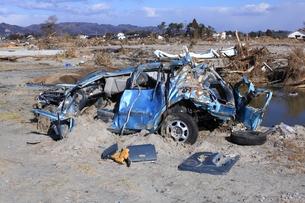 東日本大震災と津波の写真素材 [FYI00457720]