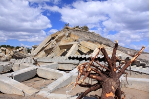 東日本大震災と津波の写真素材 [FYI00457724]