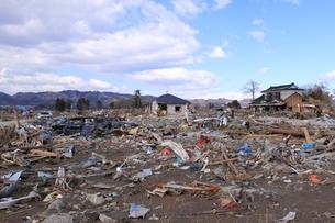 東日本大震災と津波の写真素材 [FYI00457730]