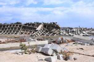 東日本大震災と津波の写真素材 [FYI00457732]