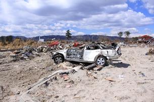 東日本大震災と津波の写真素材 [FYI00457735]