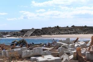 東日本大震災と津波の写真素材 [FYI00457737]