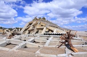 東日本大震災と津波の写真素材 [FYI00457741]