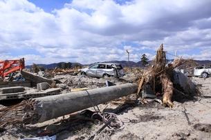 東日本大震災と津波の写真素材 [FYI00457742]