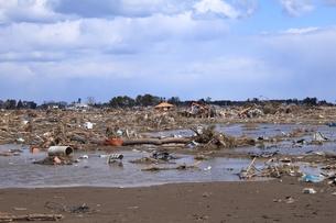 東日本大震災と津波の写真素材 [FYI00457744]