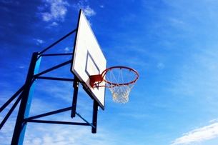 バスケットゴールの素材 [FYI00458659]