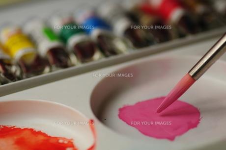ピンクの絵の具の写真素材 [FYI00459535]