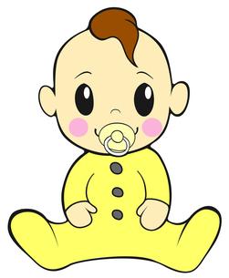 おしゃぶりをくわえた赤ちゃんの写真素材 [FYI00459593]
