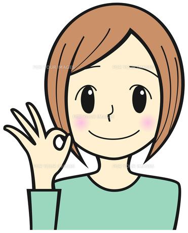 OKサインを出す女性の写真素材 [FYI00459613]