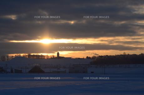 冬の夜明けの素材 [FYI00460686]