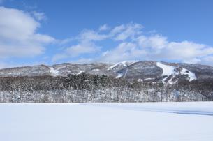 青空の雪山の素材 [FYI00460706]