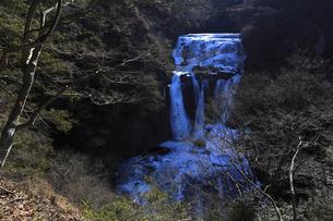 氷瀑 袋田の滝 第2観瀑台(新観瀑台)から望むの写真素材 [FYI00461316]