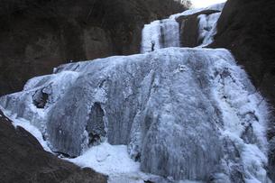 今までにない完全凍結 凍て付く袋田の滝 厳冬奥久慈旅情の写真素材 [FYI00461344]