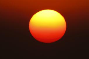 太陽とコロナ 超望遠800mm による撮影 ノートリミングの写真素材 [FYI00461475]
