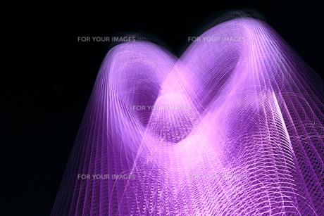 ハートの光 ピンクの素材 [FYI00461696]