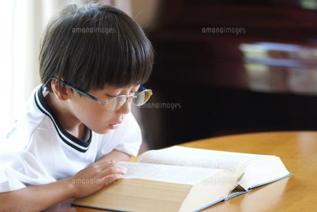 百科事典を見る子供の写真素材 [FYI00461975]