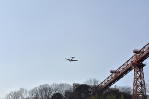 双発機着陸の写真素材 [FYI00462868]