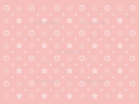 桜のモノグラム‐ピンクの素材 [FYI00464077]
