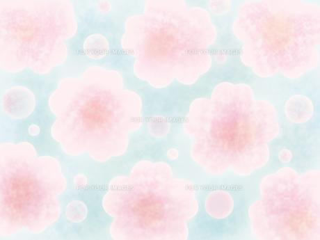 和紙な質感の桜パターンの素材 [FYI00464081]