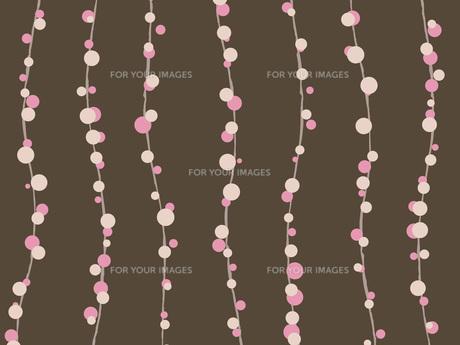 桜のモダン柄-ブラウンの素材 [FYI00464082]