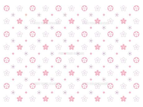 桜のモノグラム-ピンクパープルの素材 [FYI00464094]