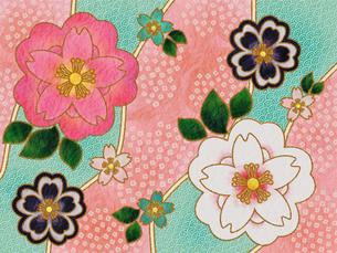 桜の着物柄‐ピンクの素材 [FYI00464104]
