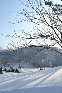 雪の里山の写真素材 [FYI00464568]