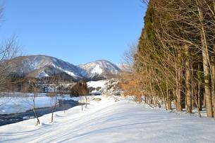 冬の河原の写真素材 [FYI00464570]