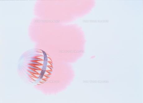 鞠とペインティングの合成の素材 [FYI00466049]