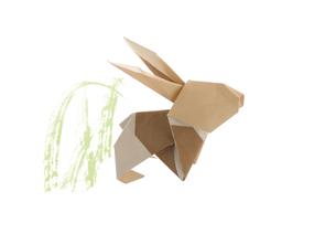 折り紙の兎の素材 [FYI00466102]
