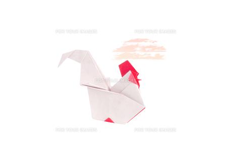 折り紙の鶏の素材 [FYI00466114]