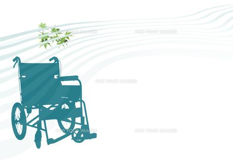 緑陰の車椅子の素材 [FYI00466132]