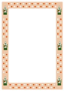 門松と梅の花のフレームの写真素材 [FYI00466193]