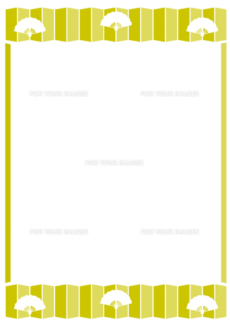 扇子と屏風のフレームの写真素材 [FYI00466198]