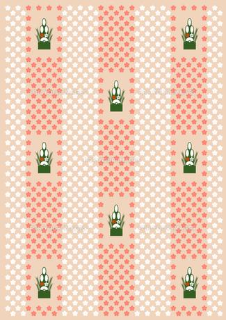 門松と梅の花の背景の素材 [FYI00466200]