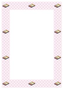 桜の花と花見団子のフレームの写真素材 [FYI00466206]