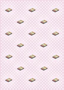 桜の花と花見団子の背景の写真素材 [FYI00466207]