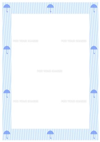 雨と雨傘のフレームの素材 [FYI00466212]